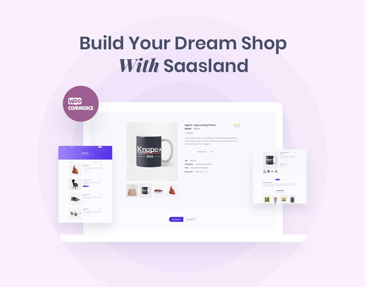 saasland multipurpose wordpress theme fully woocommerce compatible