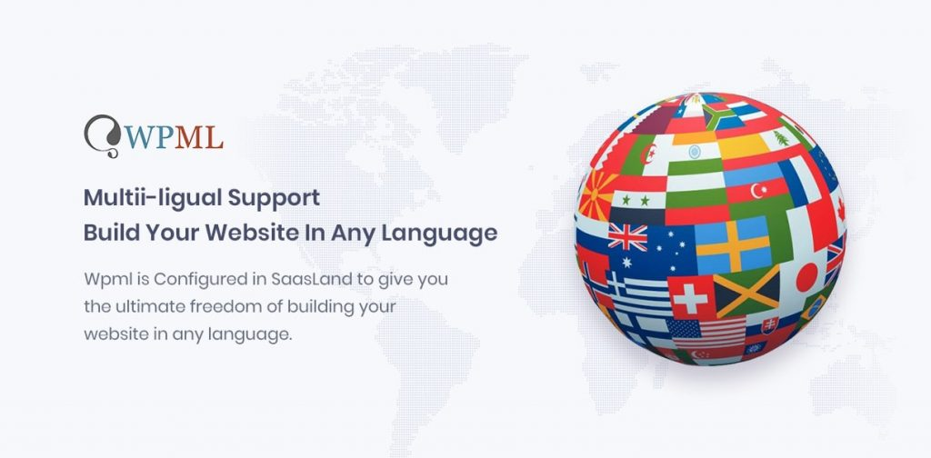 saasland multipurpose wordpress theme multi langual supported