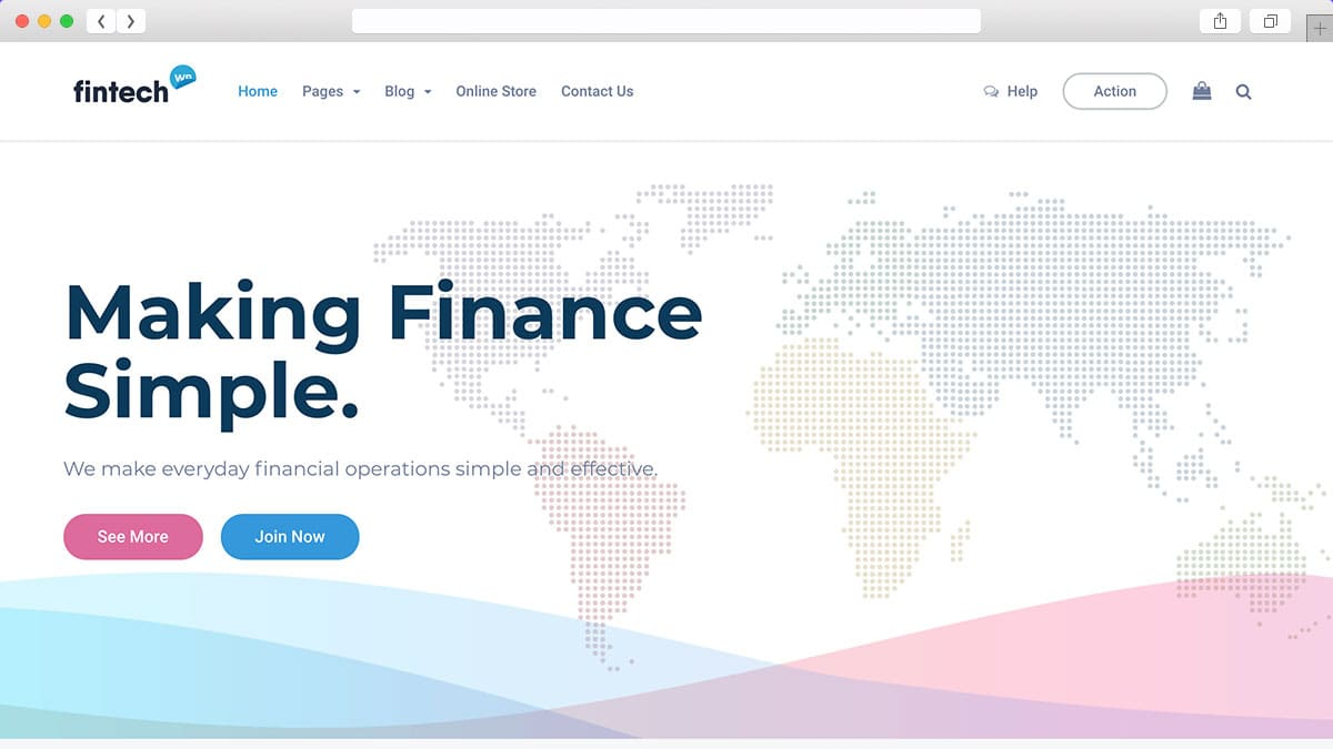 Fintech WP Financial Technology and Services WordPress Theme