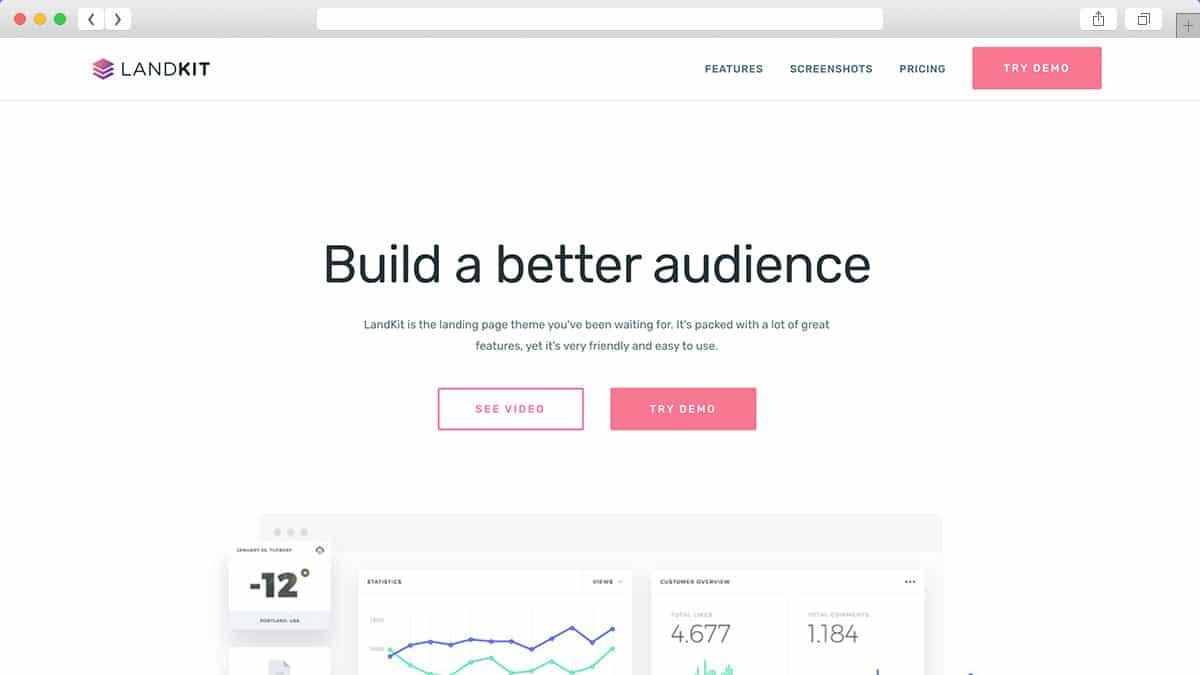 Landkit WordPress Landing Page Theme