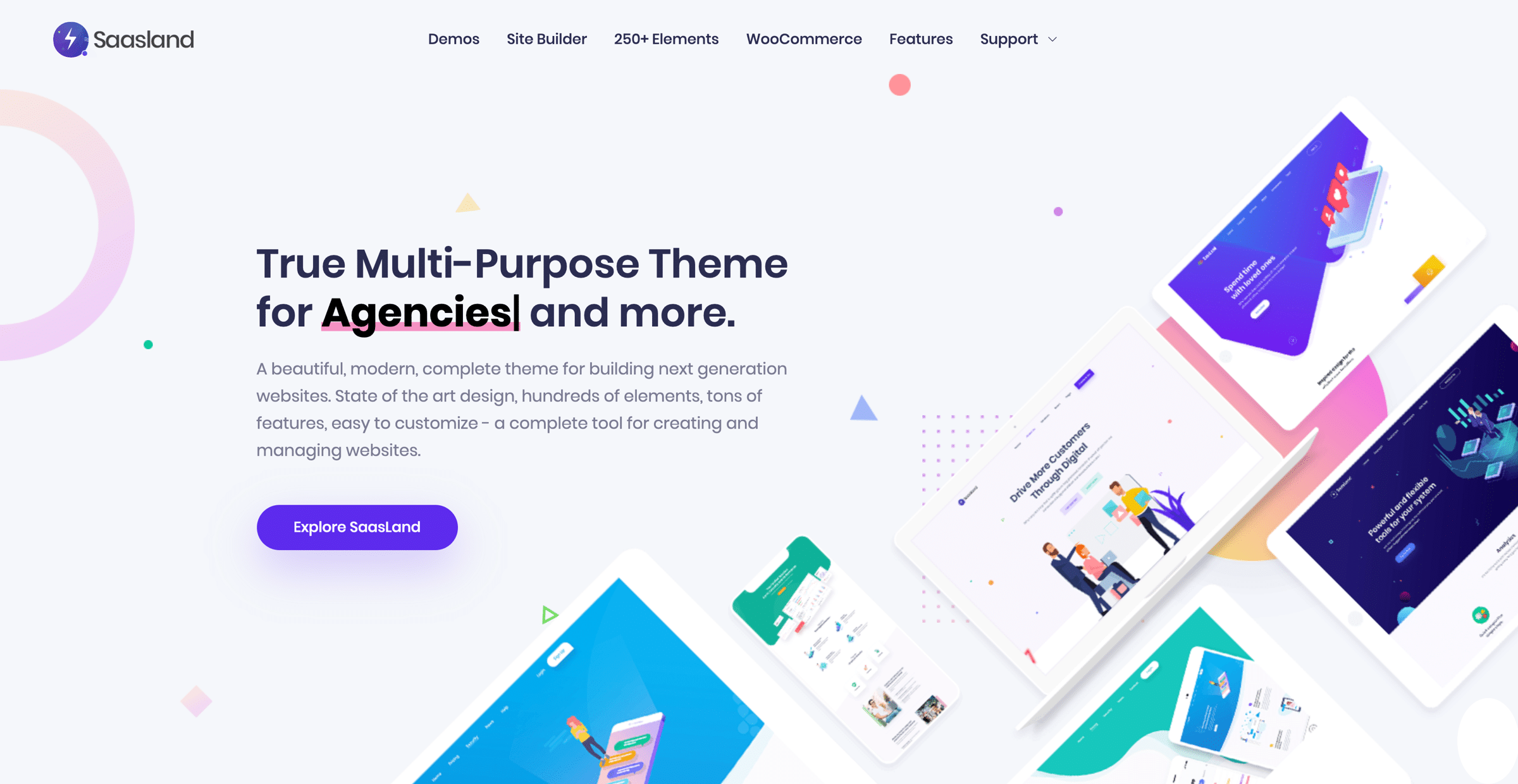 Saasland is the best Well Optimized WordPress Theme