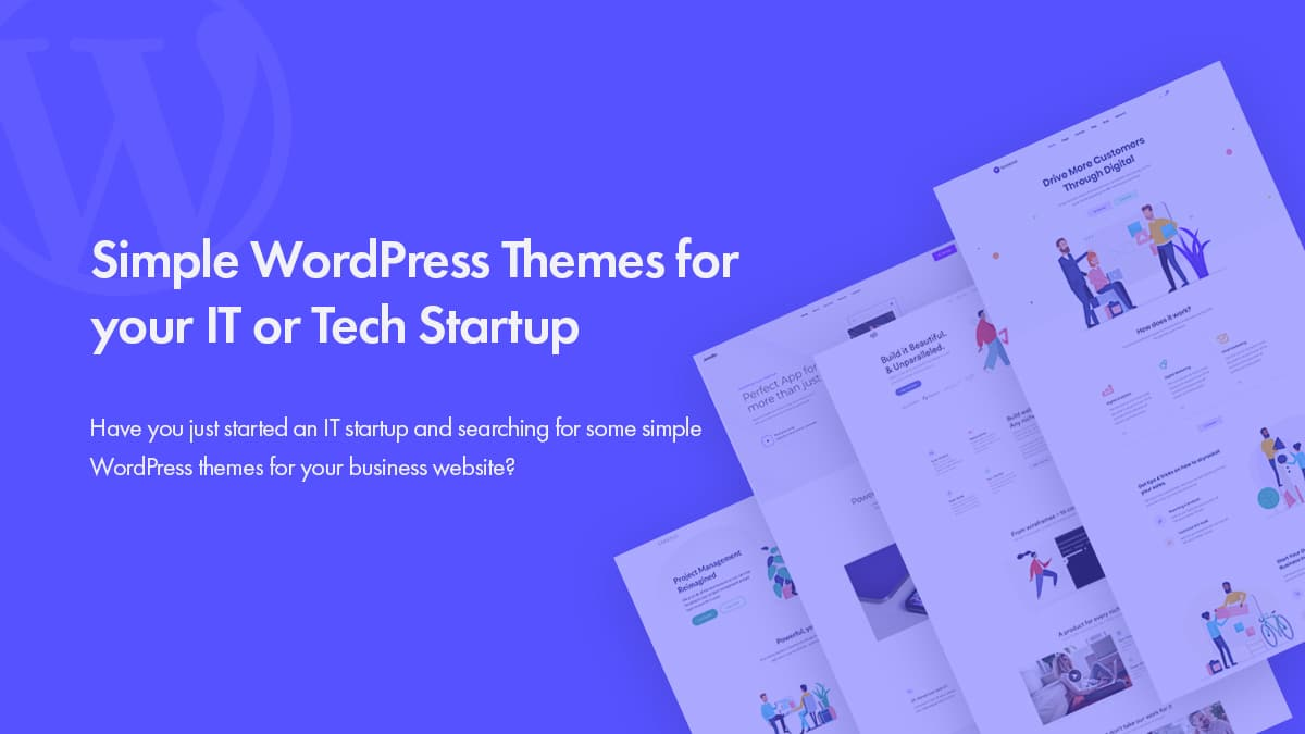 Simple WordPress Themes for IT or Tech Startup