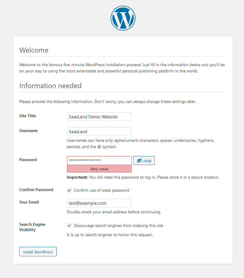WordPress setup is very easy & flexible