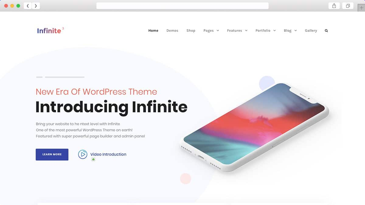 Infinite Multipurpose WordPress Theme is a clean & minimal theme for startup.
