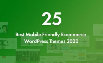 25 Best Mobile Friendly Ecommerce WordPress Themes 2020