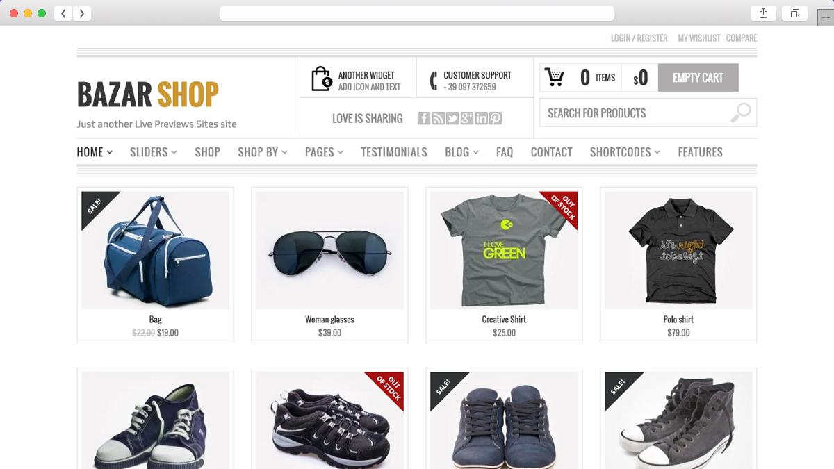 Bazar Shop Multi Purpose e Commerce Theme
