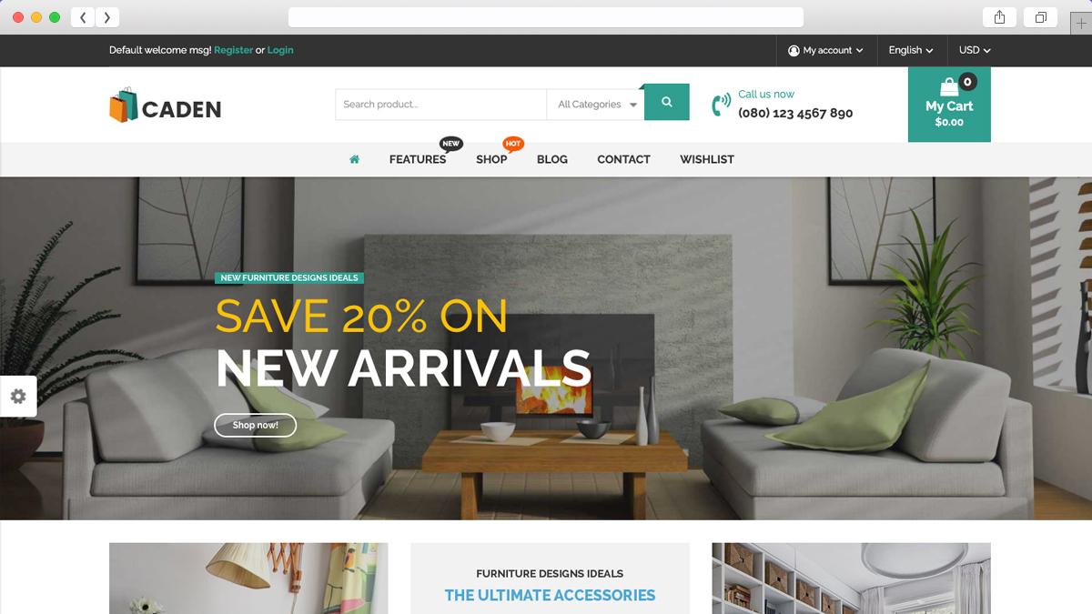 Caden Mega Store Responsive Ecommerce WordPress Theme