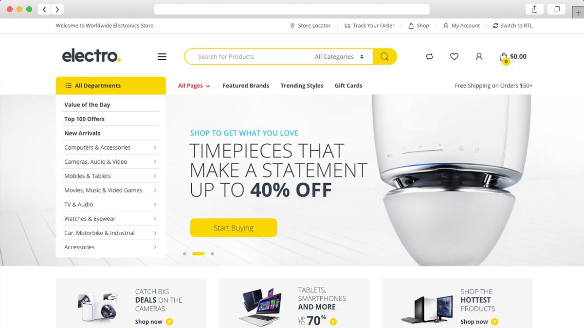 Electro Electronic Base Ecommerce WordPress Theme