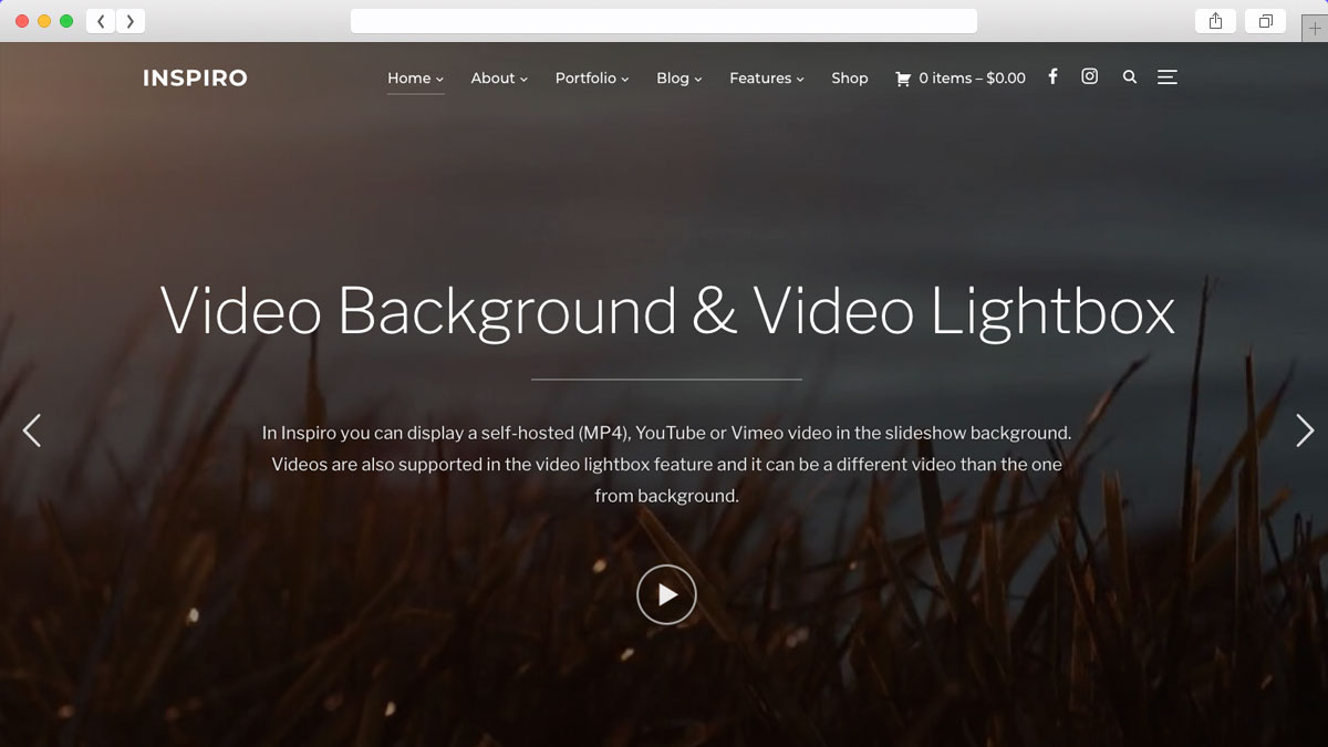 Inspiro Multipurpose Photography WordPress Theme