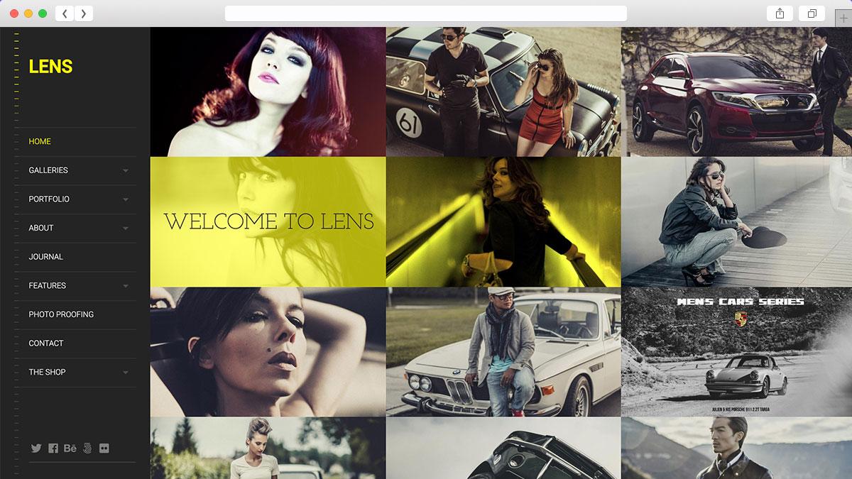 LENS An Enjoyable Photography WordPress Theme