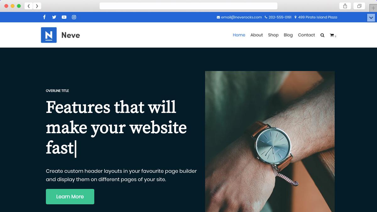 Neve Mobile Friendly Ecommerce WordPress Theme