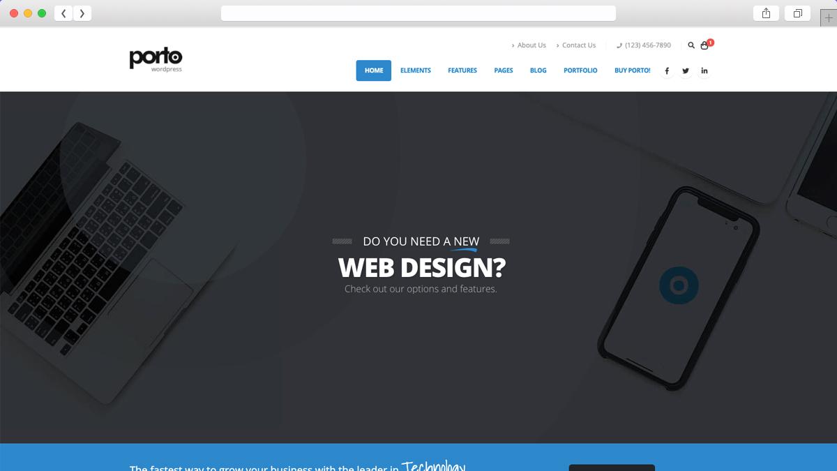 Porto Mobile Friendly Ecommerce WordPress Theme