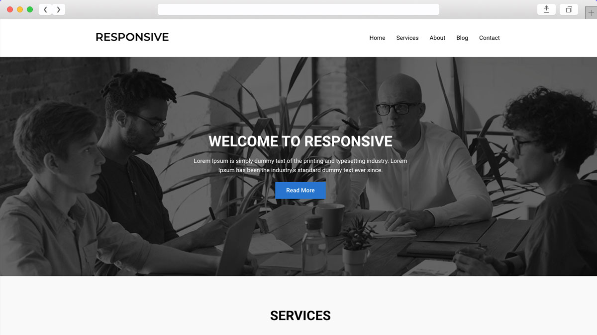 Responsive Mobile Friendly Ecommerce WordPress Theme