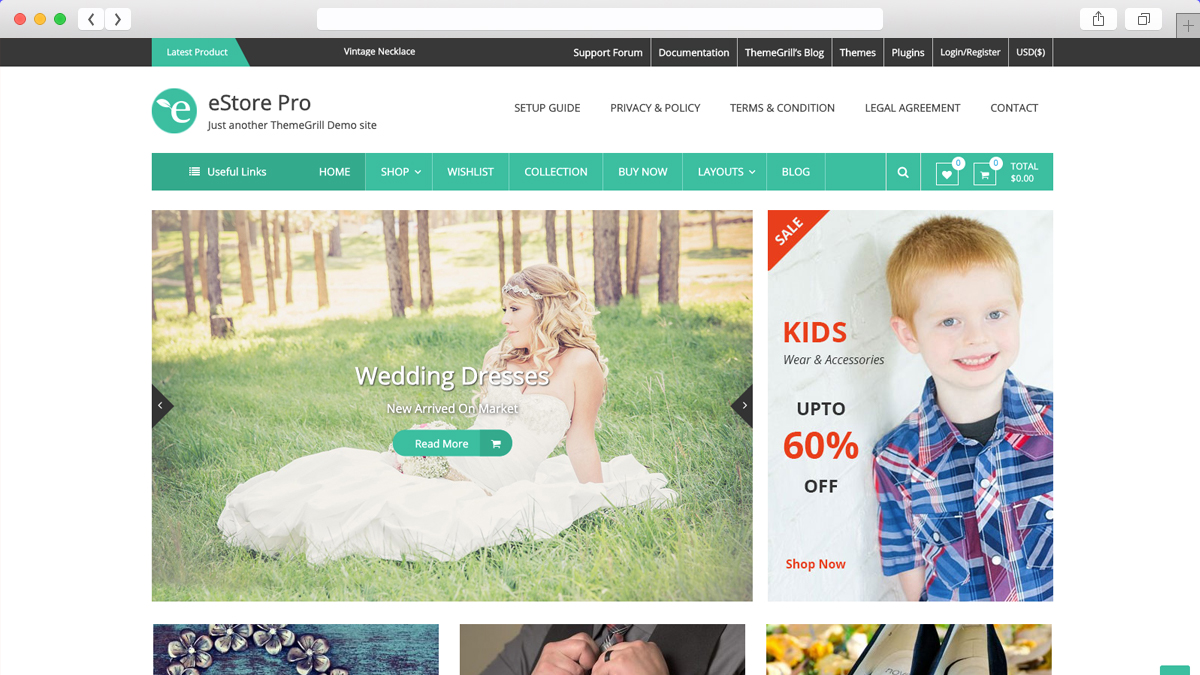 eStore Mobile Friendly Ecommerce WordPress Theme