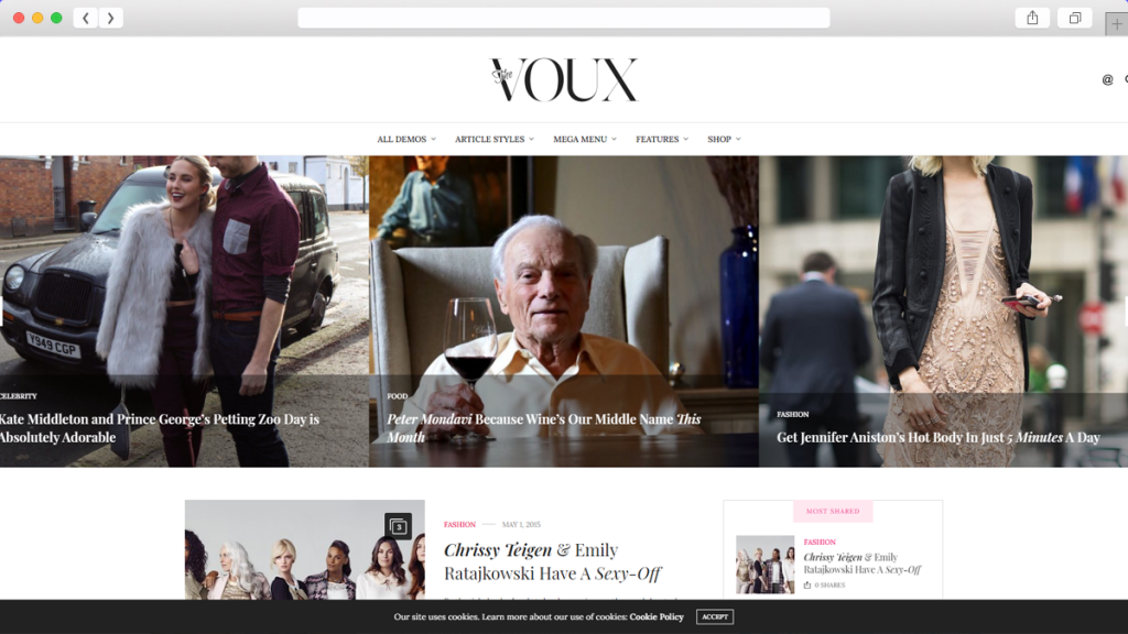 10. The Voux AdSense Optimized WordPress Themes