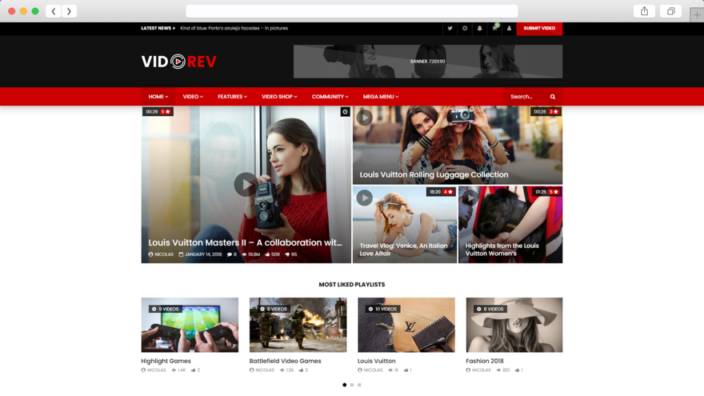 15. VideoRev AdSense Optimized WordPress Themes