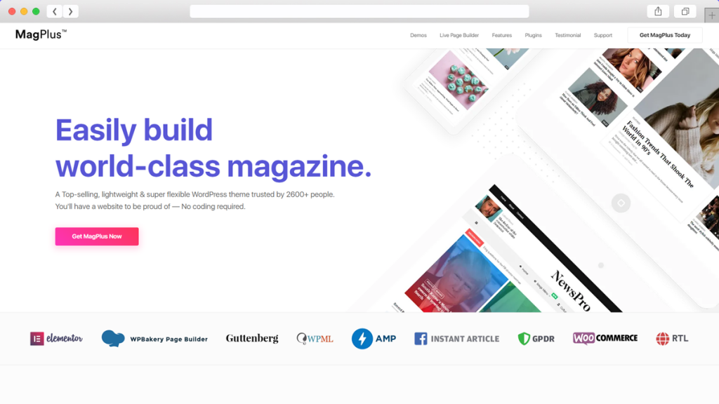 16. MagPlus AdSense Optimized WordPress Themes