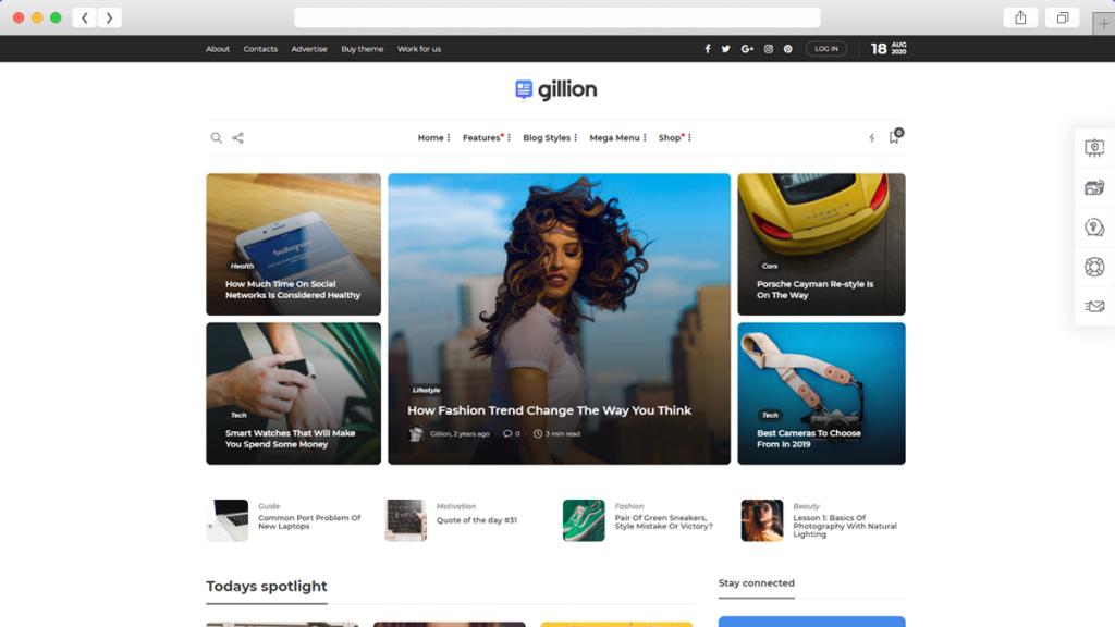 18. Gillion AdSense Optimized WordPress Themes