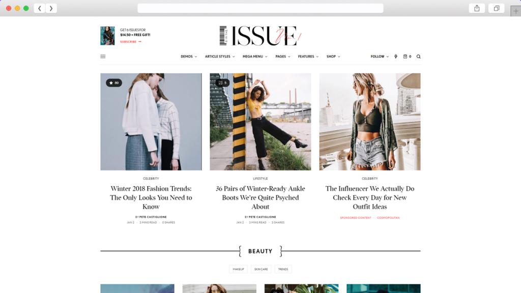 20. The Issue AdSense Optimized WordPress Themes