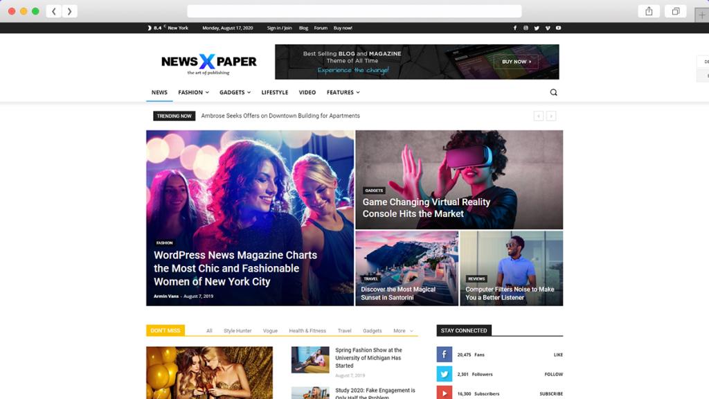 4. Newspaper AdSense Optimized WordPress Themes