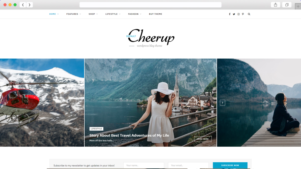 8. Cheerup AdSense Optimized WordPress Themes