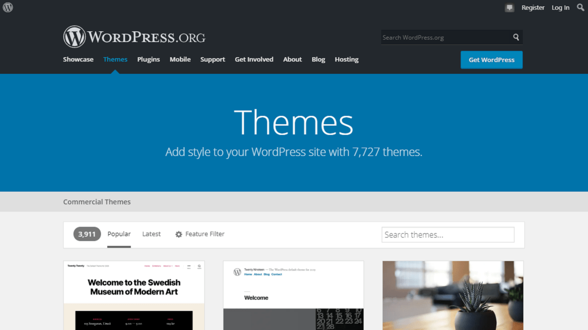WordPress.org is the most popular source for WordPress theme