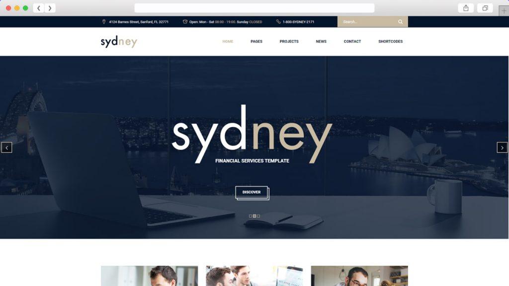 1. Sydney Free WordPress Themes