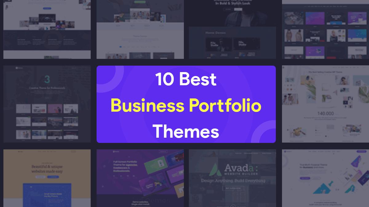 10 Best Business Portfolio Themes