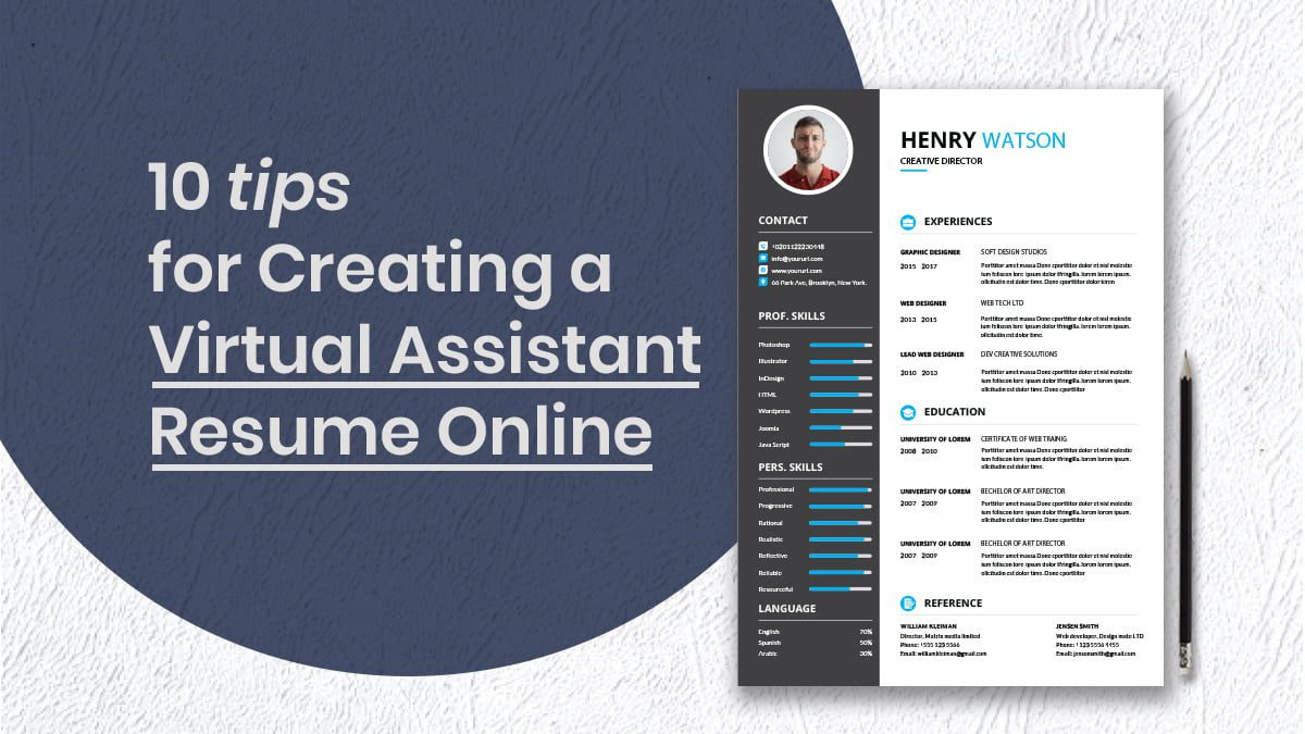 Tips for Creating A Virtual Assistant Resume Online