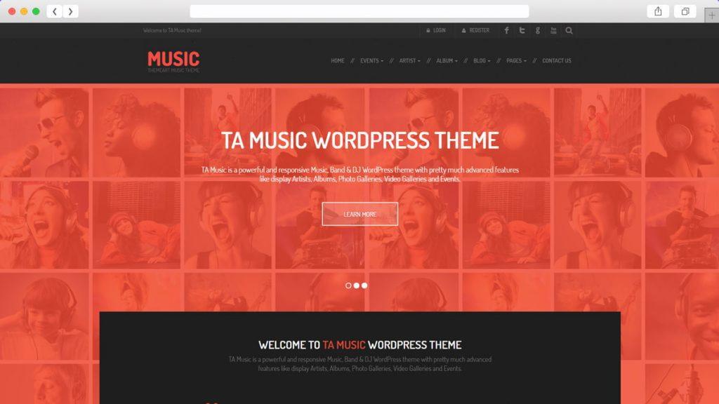 Ta Music Free WordPress Themes