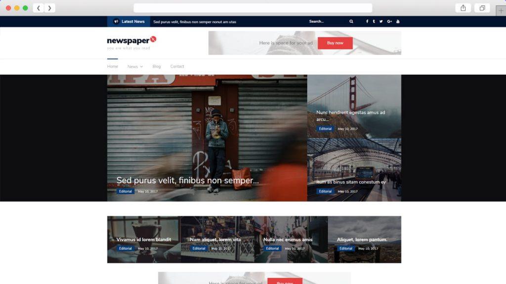 Newspaper X Free WordPress Themes