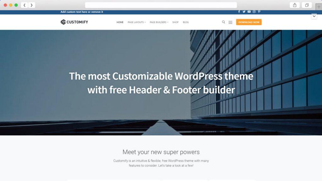 Customify Free WordPress Themes