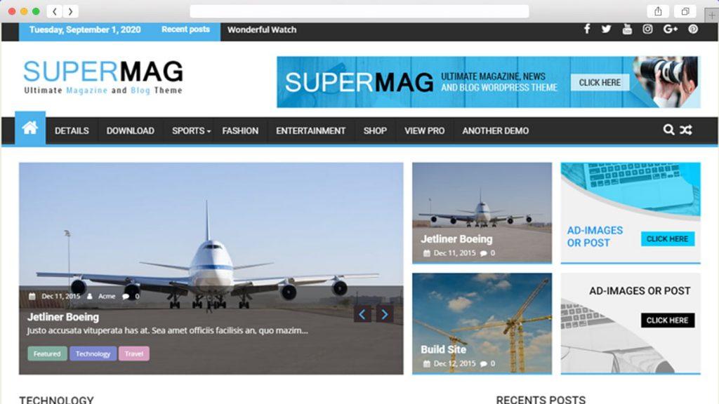 Supermag Free WordPress Themes