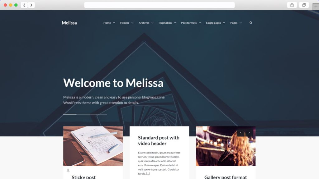 Melissa Free WordPress Themes