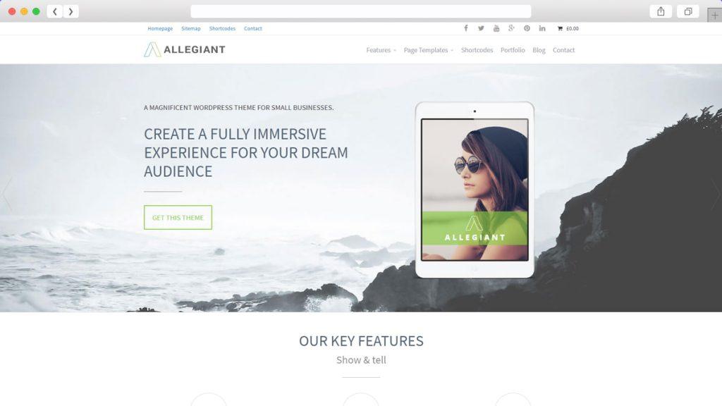 Allegiant Free WordPress Themes