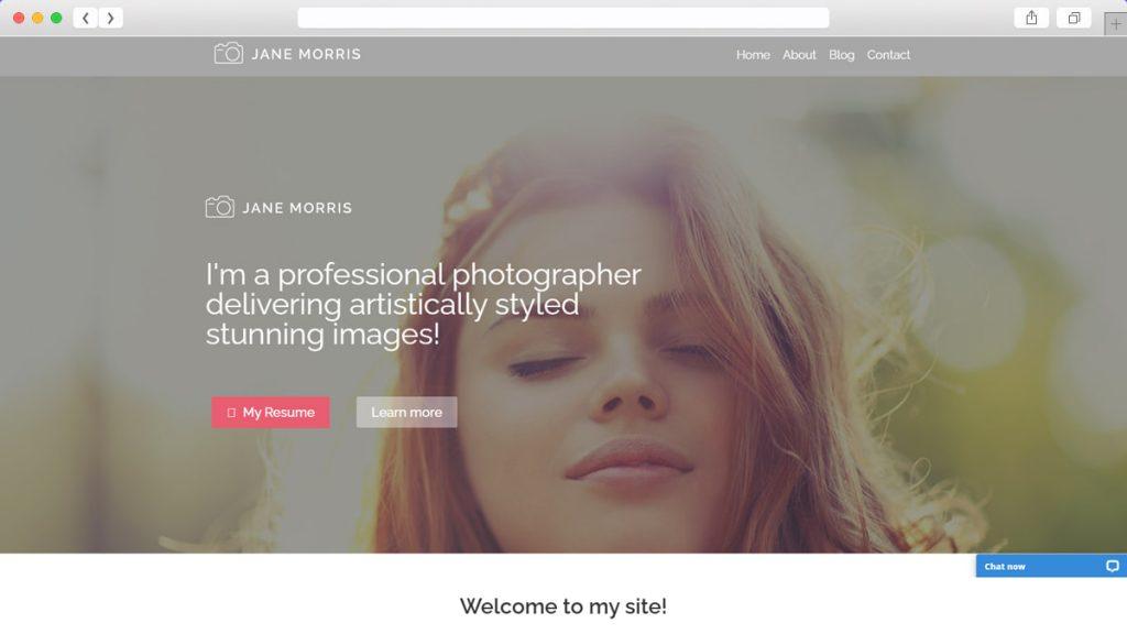 Photographer Portfolio Free WordPress Themes