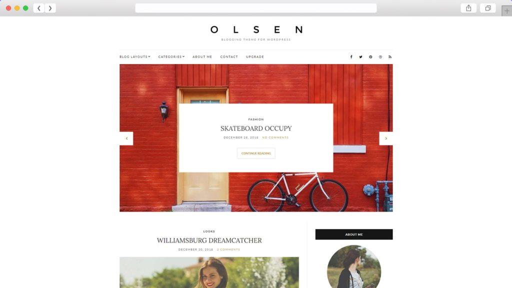 Olsen Light Free WordPress Themes