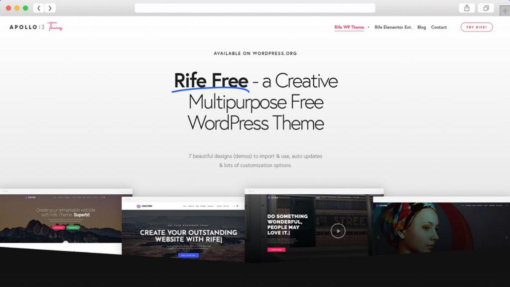 Rife Free Free WordPress Themes