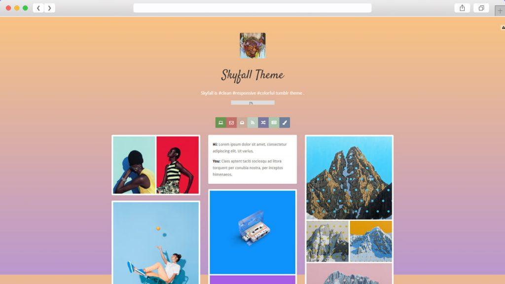 Skyfall Free Tumblr Themes