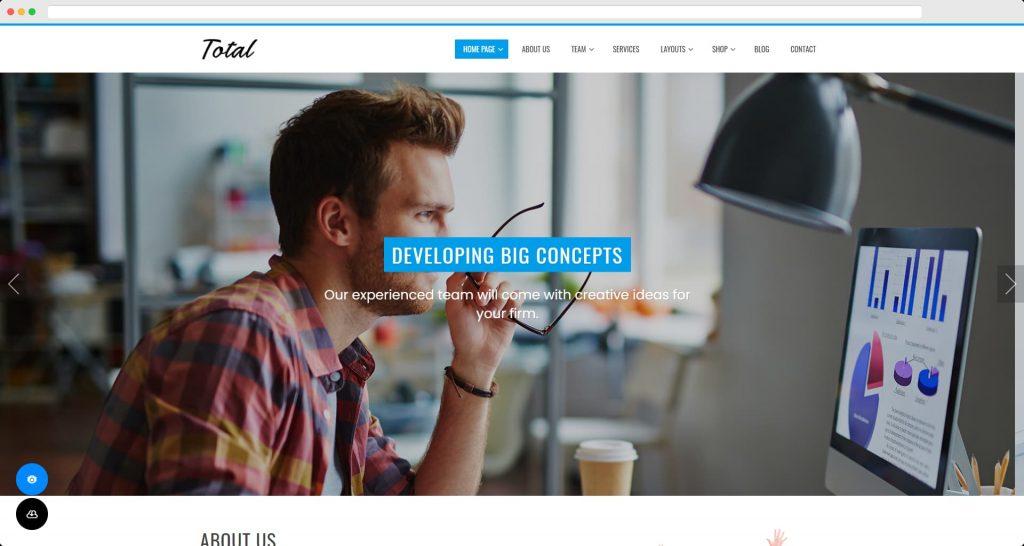 Total - Free Modern Business WordPress Theme