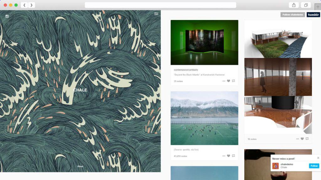 chale Free Tumblr Themes