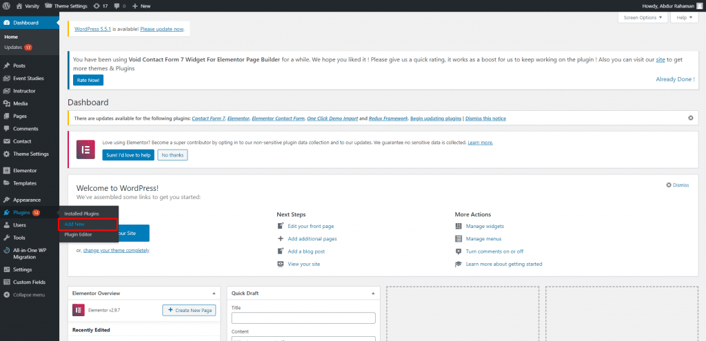 plugins add new