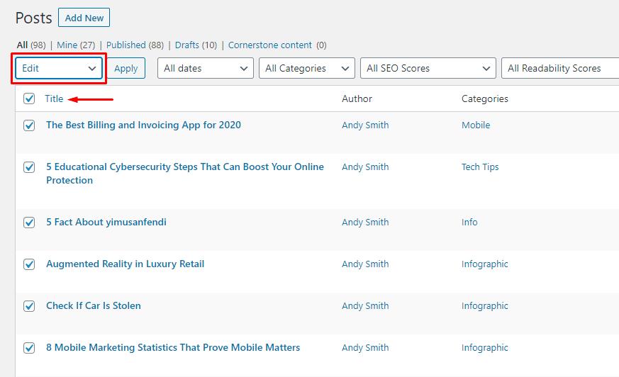 9. WordPress - Edit
