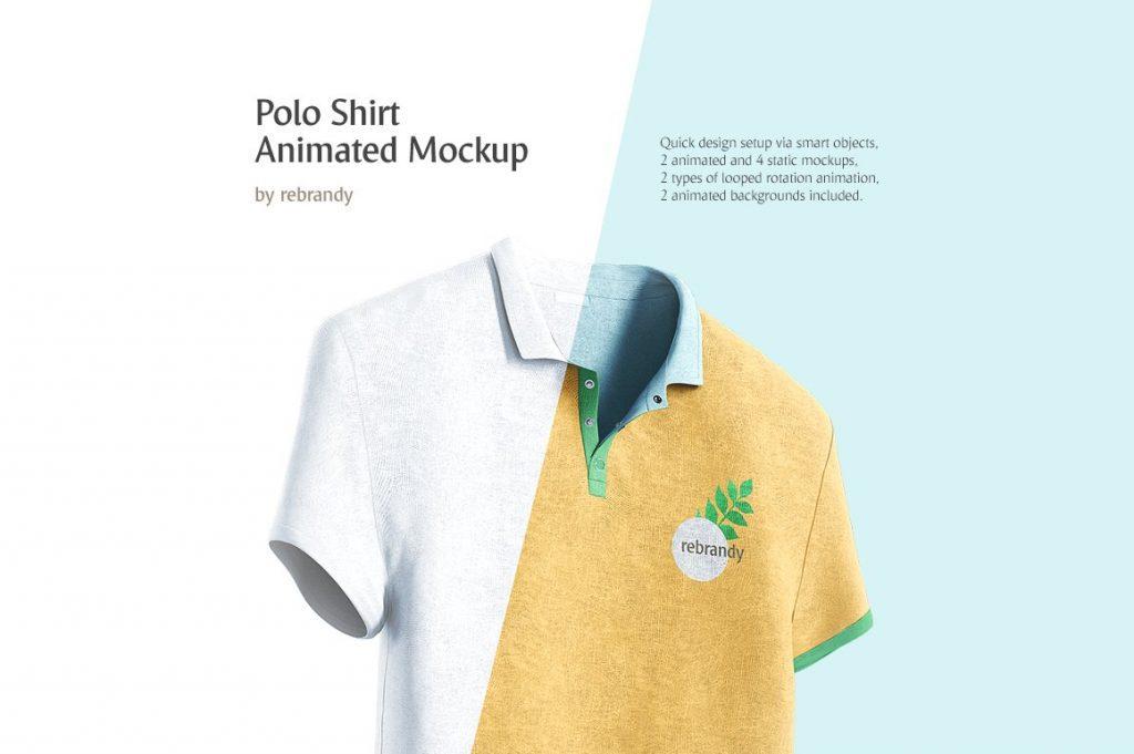 Animated Polo Shirt Mockup