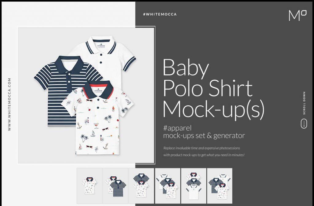 Baby Polo Shirt Mock-ups