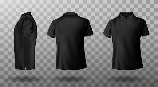 Black Polo Shirt Mockup PSD
