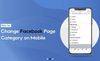 Change Facebook Page Category on Mobile