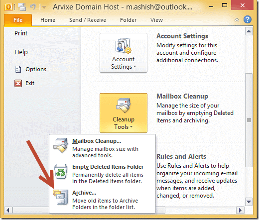 Creating an Archive File