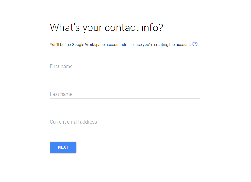 Contact info on GSuite
