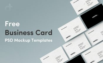 Free Business Card PSD Mockup Templates